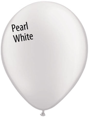 11in Pearl White Latex Balloons