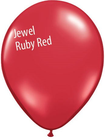 11in Jewel Ruby Red Latex Balloons