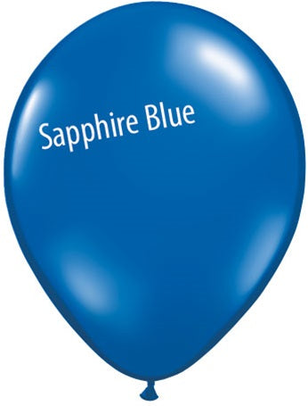 5in Sapphire Blue Latex Balloons