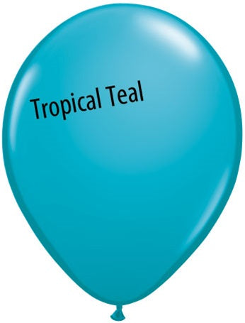 5in Tropical Teal Latex Balloons