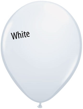 5in White Latex Balloons