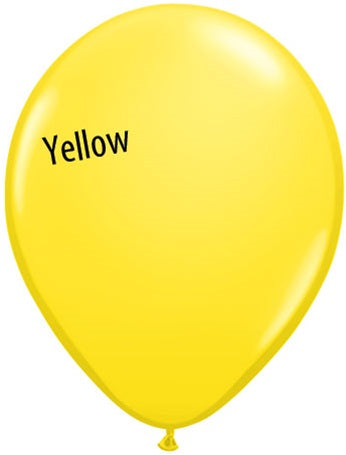 11in Yellow Latex Balloons