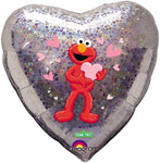 Elmo Holographic Heart Shape Balloon