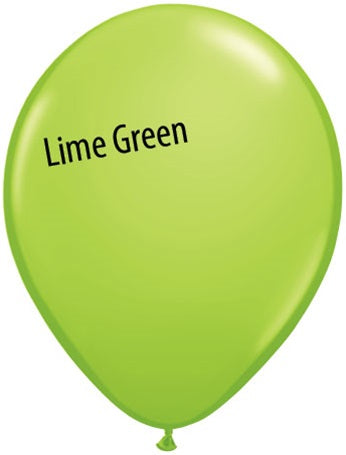 11in Lime Green Latex Balloons
