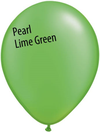 11in Pearl Lime Green Latex Balloons