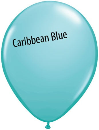 11in Caribbean Blue Latex Balloons