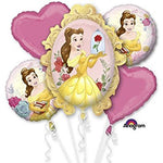 Beauty and the Beast Birthday Balloons Bouquet 5pc