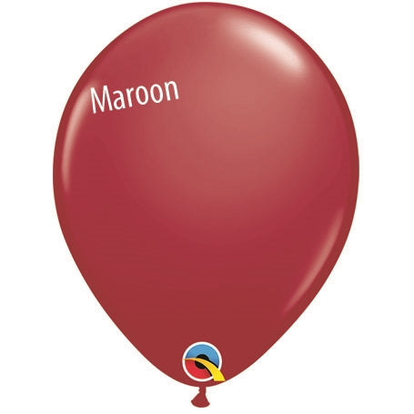 5in Maroon Latex Balloons