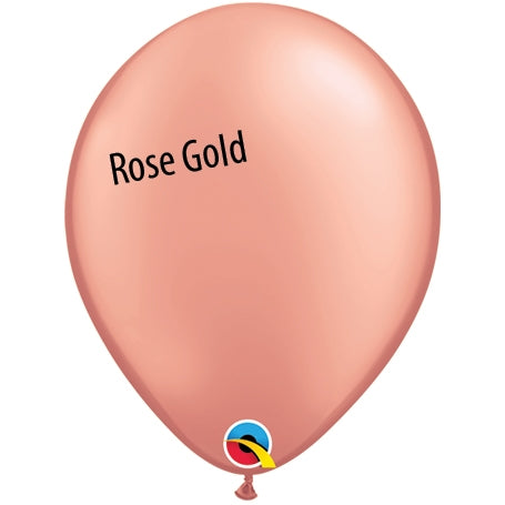 5in Rose Gold Latex Balloons
