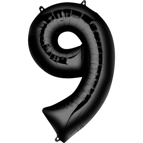 Giant Black Number 9 Balloon