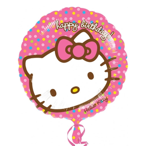 Hello Kitty Polka Dots Birthday Balloon
