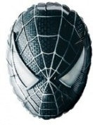 Black Spider-Man Mask Head Shape Balloon
