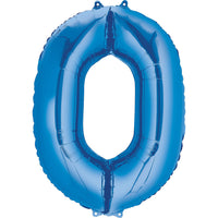 Giant Blue Number 0 Balloon