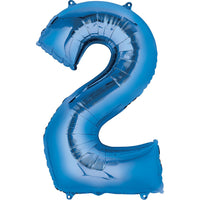 Giant Blue Number 2 Balloon