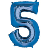 Giant Blue Number 5 Balloon