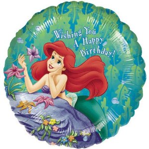 The Little Mermaid Happy Birthday Balloon