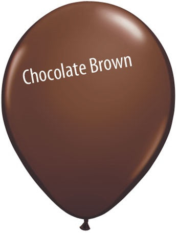 5in Chocolate Brown Latex Balloons