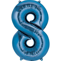 Giant Blue Number 8 Balloon