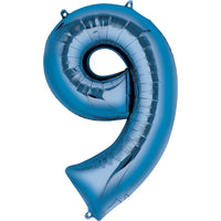 Giant Blue Number 9 Balloon