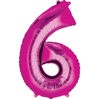 Giant Hot Pink Number 6 Balloon