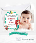 Disney Ariel Little Mermaid Birthday Invitations