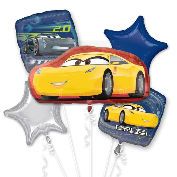 Disney Cars Cruz Jackson Birthday Balloons Bouquet 5pc