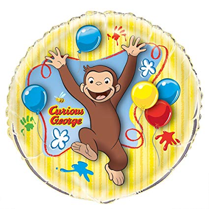 Giant Curious George Birthday Balloon