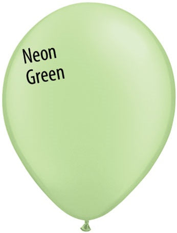 11in Neon Green Latex Balloons