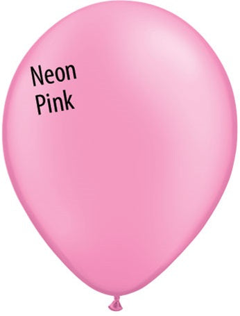 11in Neon Pink Latex Balloons