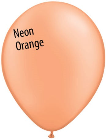 11in Neon Orange Latex Balloons