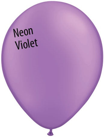 11in Neon Violet Latex Balloons