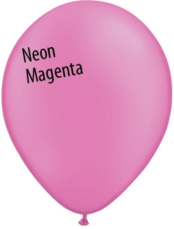 11in Neon Magenta Latex Balloons