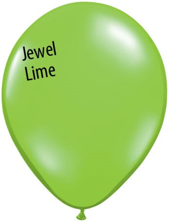 5in Jewel Lime Green Latex Balloons