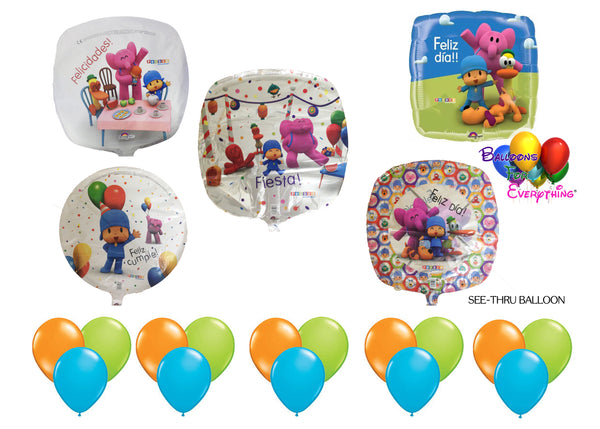 Pocoyo and Friends Birthday Balloons 20pc