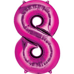 Giant Hot Pink Number 8 Balloon