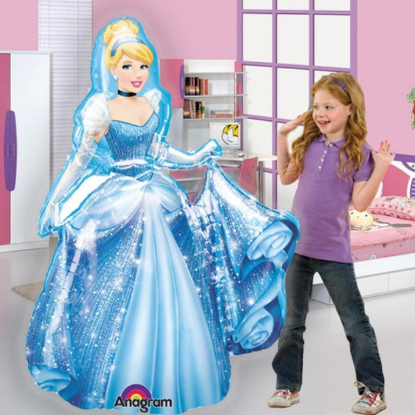 "Disney Princess Cinderella 48"" Airwalker Birthday Balloon"
