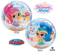 "22"" Shimmer and Shine Birthday BUBBLE Balloon"
