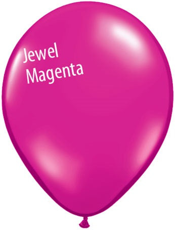 5in Jewel Magenta Latex Balloons