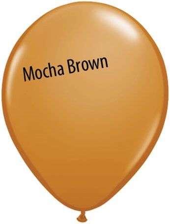 5in Mocha Brown Latex Balloons