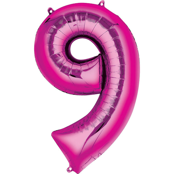 Giant Hot Pink Number 9 Balloon