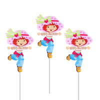 "14"" Classic Strawberry Shortcake Birthday Balloons"