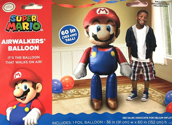 "Super Mario Brothers 60"" Airwalker Birthday Balloon"
