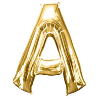 Giant Gold Letter A Balloon