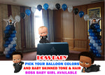 Boss Baby Balloon Columns and Arch
