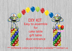 Toy Story Buzz Lightyear Birthday Balloon Arch Columns, Cake Table, Gift Table, DIY KIT Party