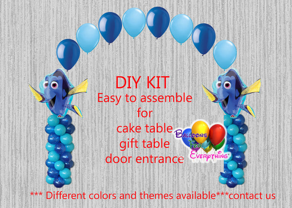 Disney Finding Dory Birthday Balloons Arch Columns