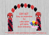 Spiderman Birthday Balloon Arch with Columns Party Decorations