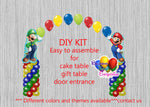 Super Mario Brothers Luigi Birhday Balloon Column Arch Decorations