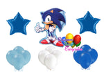 Sonic the Hedgehog Birthday Party Balloons