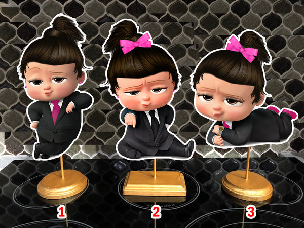 Latina Boss Baby Pink Girl Birthday Centerpieces